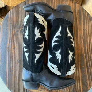 Dan Post Leather & Suede Western Cowboy Boots